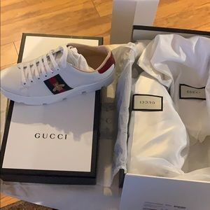 Gucci Authentic Women's Ace embroidered platforms